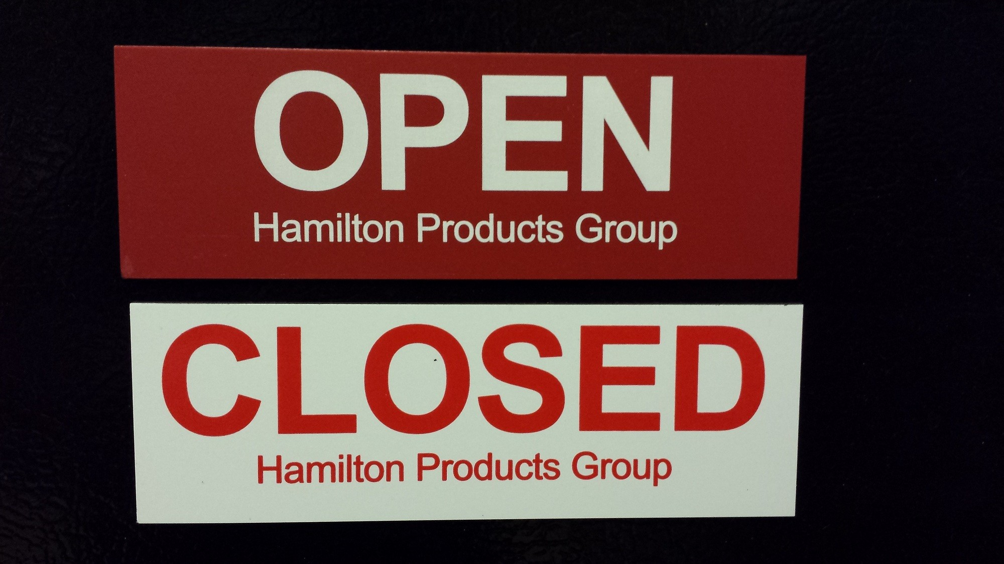 Open / Closed Signs, GSA Container Magnets
