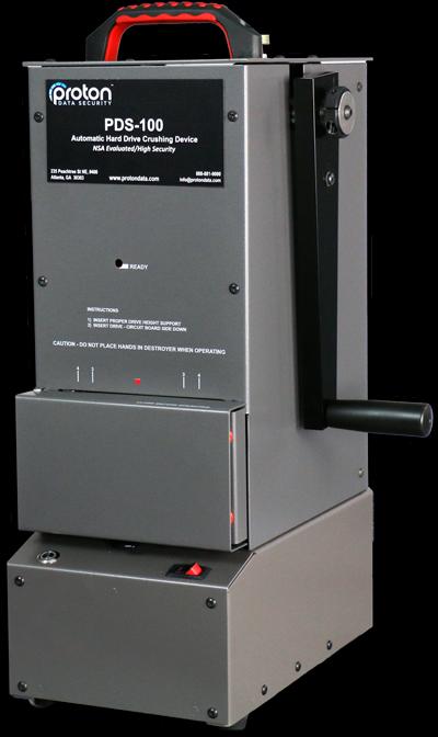 PROTON® PDS-100 HARD DRIVE DESTROYER