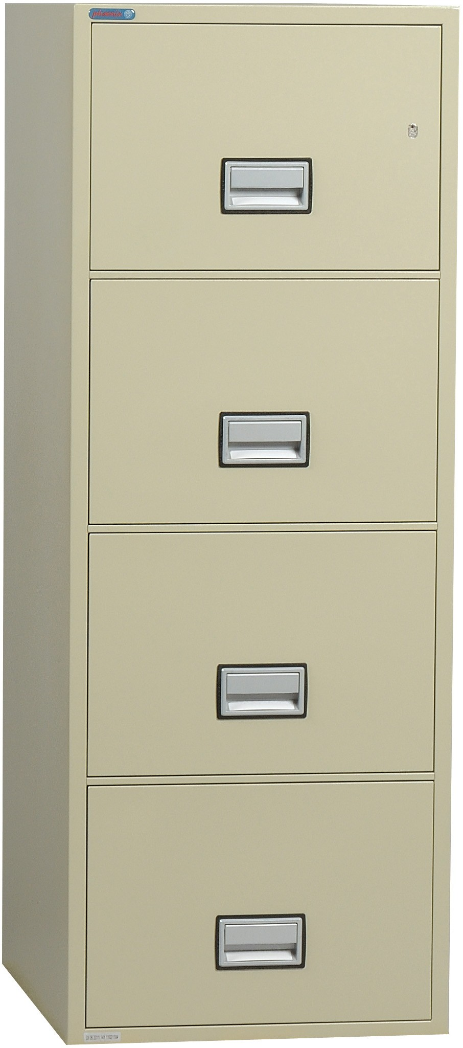 Phoenix Vertical 25 inch 4-Drawer Letter Fireproof File Cabinet