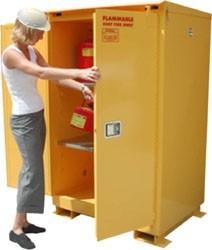 A190WP1 - Weatherproof Flammable Storage Cabinet - 90 Gal. Self-Latch Standard 2-Door