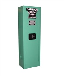 MG102FL - MedGas Oxygen Gas Cylinder Full Fire Lined Storage Cabinet - Stores 1-2 D, E Cylinders