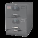 7110-00-082-6111ML | Class 5, Two Drawer Multi Lock File Cabinet, Gray