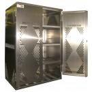 LP12S - LP/Oxygen Storage Cabinet - 12 Cyl. Horizontal Standard 2-Door