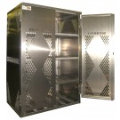 LP12-Steel - LP/Oxygen Storage Cabinet - 12 Cyl. Horizontal Standard 2-Door