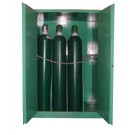 MG109H - MedGas Full Oxygen Gas Cylinder Storage Cabinet - Stores 9-12 H Cylinders