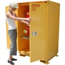 A190WP1 - Weatherproof Flammable Storage Cabinet - 90 Gal. Self-Latch Standard 2-Door