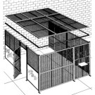 Two-Wall DEA Approved Drug Cage & Secure Storage Area