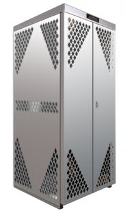 LP8-Steel - LP/Oxygen Storage Cabinet - 8 Cyl. Horizontal Standard Door