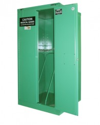 MG306H - MedGas Full Oxygen Gas Cylinder Storage Cabinet - Stores 6-9 H Cylinders