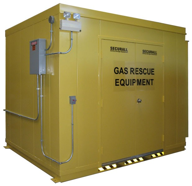 Gas & Emergency Rescue Building w/ Double Door Entry