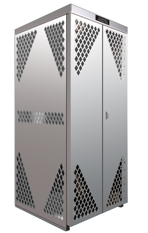 LP8S-Steel - LP/Oxygen Storage Cabinet - 8 Cyl. Horizontal Standard Door