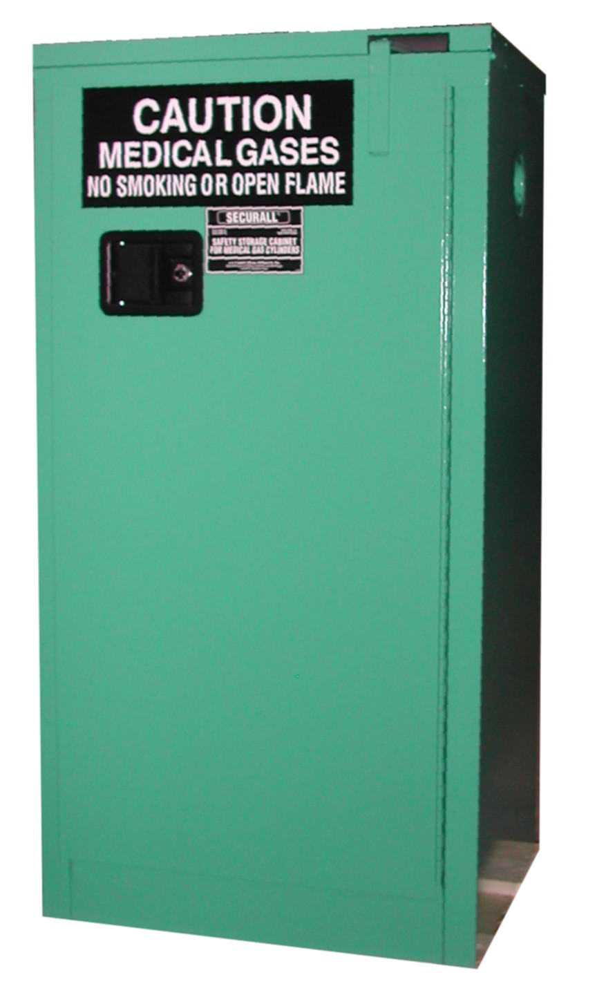 MG309 - MedGas Oxygen Gas Cylinder Storage Cabinet - Stores 9-12 D, E Cylinders